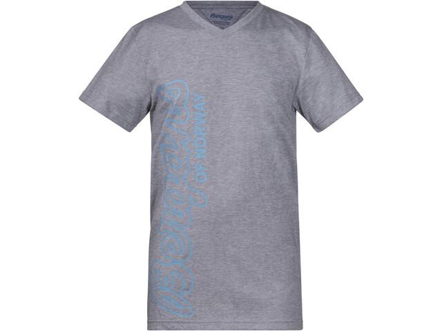 Bergans Tee Kinder grey melage/glacier/steel blue